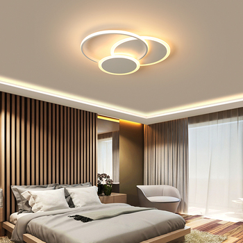 New Creative Minimalism Modern Chandelier lustre led White/Brown Bed room Living room Ceiling led Chandelier lighting lamparas