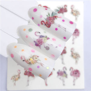 Image 5 - 1 PC Nail Sticker Wolf Deer Flower Water Transfer Decal Sliders for Nail Art Decoration Tattoo Manicure Wraps Tools Tip