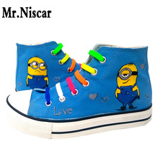Mr.Niscar 2017 New Arrival Blue Flat Shoes for Women Breathable Women's Casual Shoes Canvas High Top Quality Flower Flats Shoes