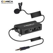 Comica CVM V05 متعدد الاتجاهات كليب على Lavalier التلبيب ميكروفون لكانون نيكون فوجي كاميرات آيفون سامسونج الهواتف الذكية