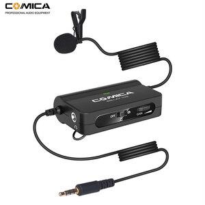 Image 1 - Comica CVM V05 Micrófono de solapa omnidireccional con Clip para cámaras Canon, Nikon, Fuji, iPhone, Samsung, Smartphones