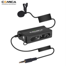 Comica CVM V05 Omnidirectional Clip on Lavalier Lapel Microphone for Canon Nikon Fuji Cameras for iPhone Samsung Smartphones