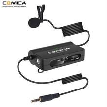 Comica CVM V05 無指向性クリップオンラベリアラペルマイクロホンキヤノン、ニコン、富士カメラ iphone サムスンスマートフォン用