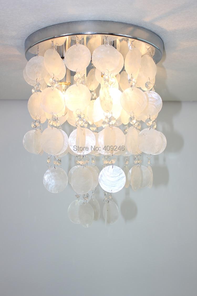 Moderna višebojna romantična stropna svjetiljka u obliku školjke Upotrijebite žarulju E14X3 rasvjetu blagovaonicu spavaća soba bar trgovina caffe klub