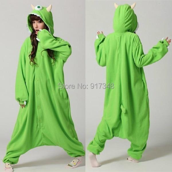 Monster University Mike Wazowski Cosplay Onesie Costume Fleece Jumpsuit