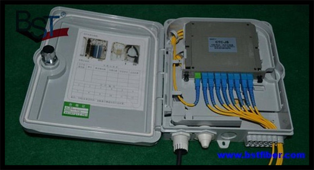 8 16 Núcleos De Fibra Óptica Ftth, Material del ABS, Caja de FTTH Caja de Distribución, PLC Divisor de Selección