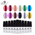 Saviland 1pcs Mirror Nail Polish UV LED Gel Nails Metal Metallic Colors Soak Off 12 Colors Gel Varnish