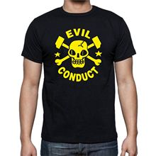 Evil Conduct T-Shirt Oi Punk Streetpunk Skull  Free shipping newest Fashion Classic Funny Unique gift