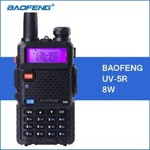 BAOFENG UV-5R Walkie Talkie 8W UHF VHF Dual Band 1800mah UV5R Portable Baofeng Walkie Talkie 5R Two Way CB Ham Radio Communitor