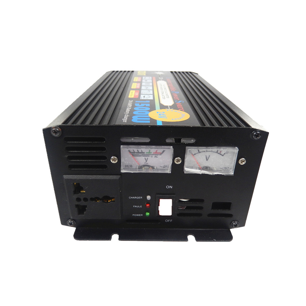 цена на DC24V to AC220V /DC12V to AC220V 1500W UPS peak power 3000W modified wave power ups inverter with battery charging function