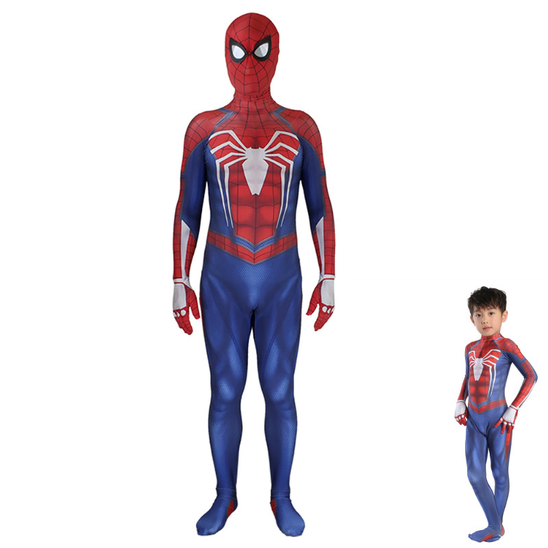 Adult Kids The Avengers COS INSOMNIAC  Spiderman PS4 Cosplay Costume Movie Bodysuit Party Holiday Costume Spidey Cosplay Suit