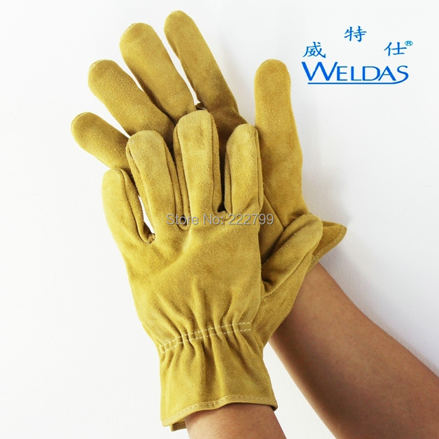 Reinforcement thickening leather work gloves 10-2064 cowhide wear-resisting cowhide Labour protection glove Welding gloves