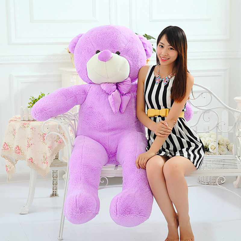 High Quality 140CM big giant purple teddy bear animals plush stuffed toys children kid dolls girls Christmas vanlentine gift fancytrader biggest in the world pluch bear toys real jumbo 134 340cm huge giant plush stuffed bear 2 sizes ft90451