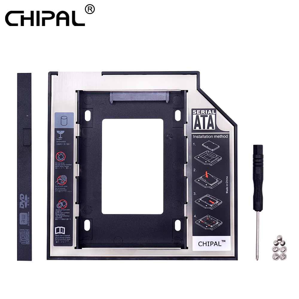 CHIPAL 50pcs Second 2nd HDD Caddy 9 5mm SATA 3 0 for 2 5 2TB SSD