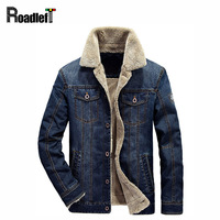 Winter Thickening Jeans Jacket Men Plush Liner Denim Jacket And Coat Men S Military Style Brand