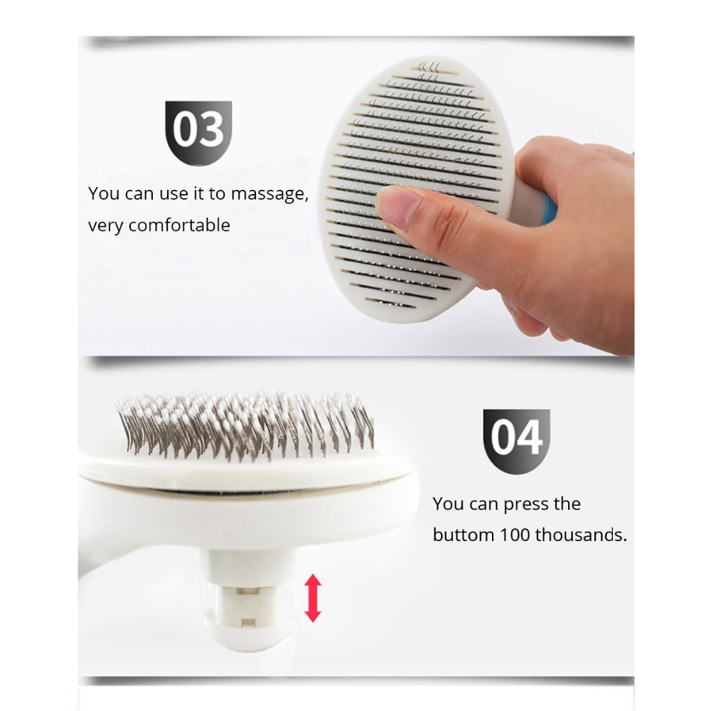 High Quality Comb For Dogs Pet Cat Fur Hair Grooming Katty Puppy Hair Shedding Hair Tool Massage Brush Products For Animals in Dog Combs from Home Garden