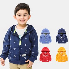 New Spring & autumn children jackets casual hooded kids outerwear/coats 2-8T Cotton toddler for Baby boys 2019