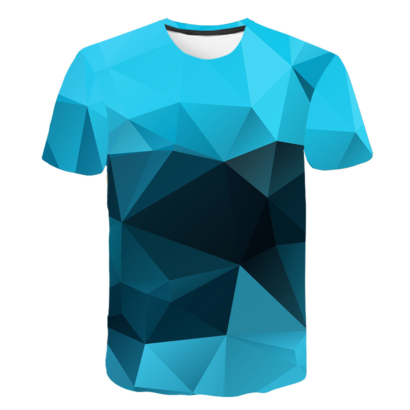 2018 Plus Size 5XL Male 3d   t     shirt   Fashion Diamond   t     shirt   Cool Patchworked 3d Hip Hop   t  -  shirt   Geometry Triangular Tee