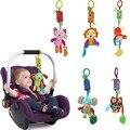 6 Estilo Brinquedos Infantil Cama Carrinho de Bebê Pendurado brinquedo Aprendizagem Precoce Animal de Pelúcia Anéis Anéis Sinos Brinquedos Recém-nascidos Do Bebê Chocalhos Mobiles
