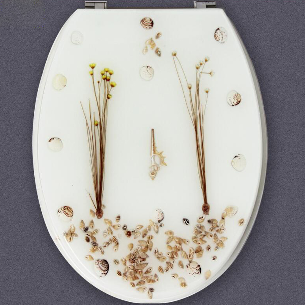 47*35CM High-grade beautiful white Resin toilet seat cover ...