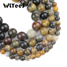WLYeeS Top quality Natural Stone Siliciffied Wood stone beads Round Loose bead 6/8/10/12MM Jewelry bracelet accessory making DIY