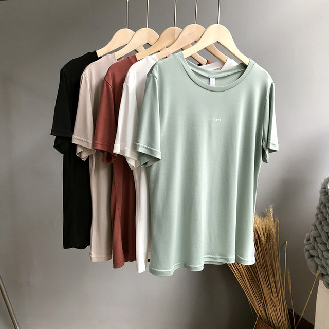 Women T shirt Cotton Casual For Lady Top Tee