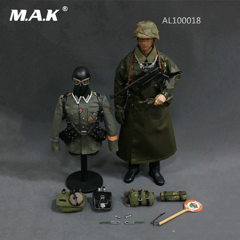 AL100018 1/6 Scale Man Clothes WWII German Grossdeutschland Division(GD) Military Police Equipment Set for 12'' Action Figure ba904 academy wwii german artwox battleship bismarck wood deck aw10047
