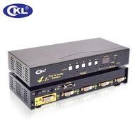 Ckl 41d 4 Порты и разъёмы Коммутатор DVI разветвитель коробка 4 в 1. 3D 1080 P для ПК Мониторы с ИК пульт, RS232 Управление, кнопка