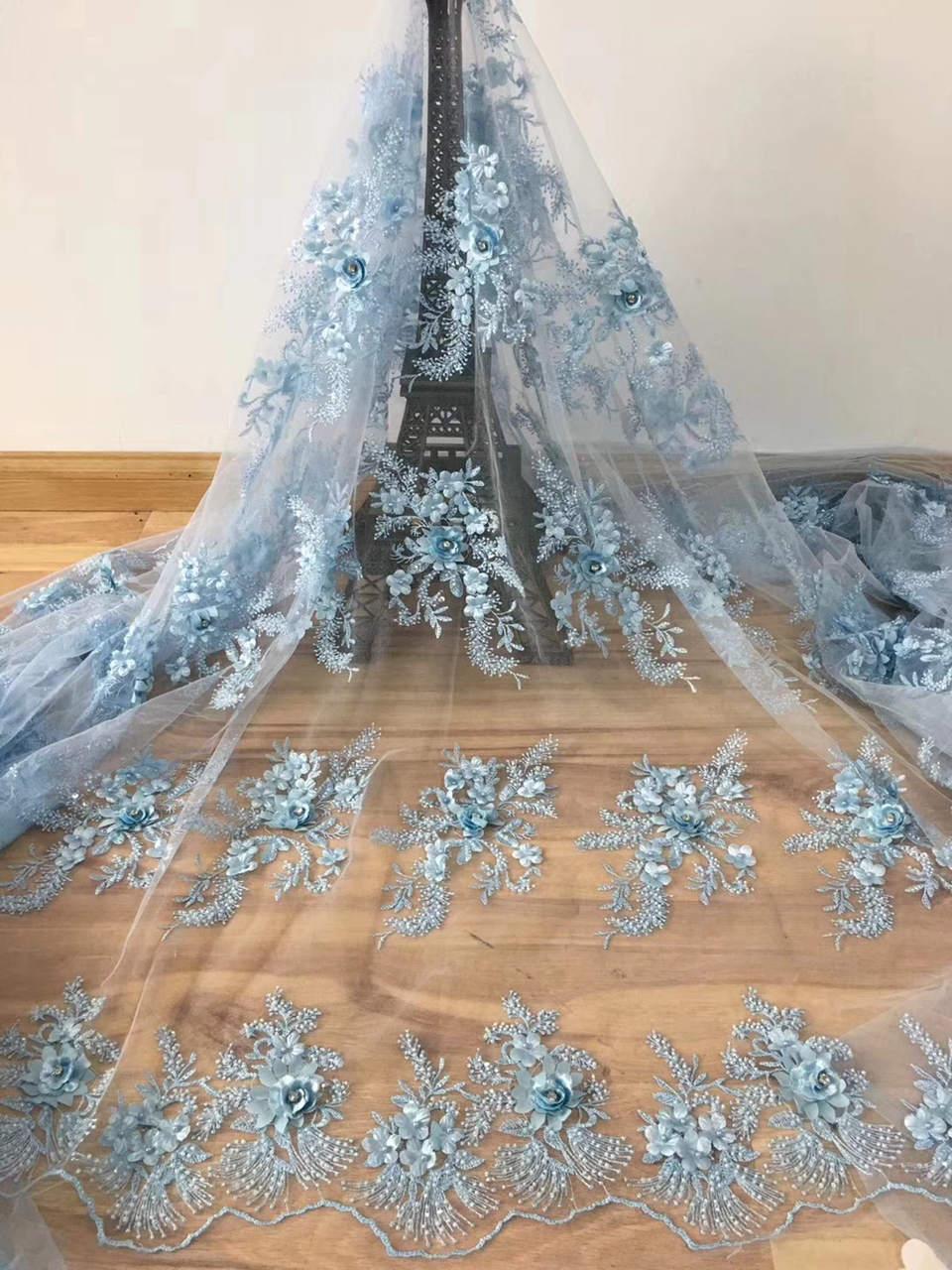 FolaSade Unique 3D dentelle tissu 2018 haute qualité dentelle africaine Tulle dentelle tissu avec diamants Guipure dentelle pour mariage TY817