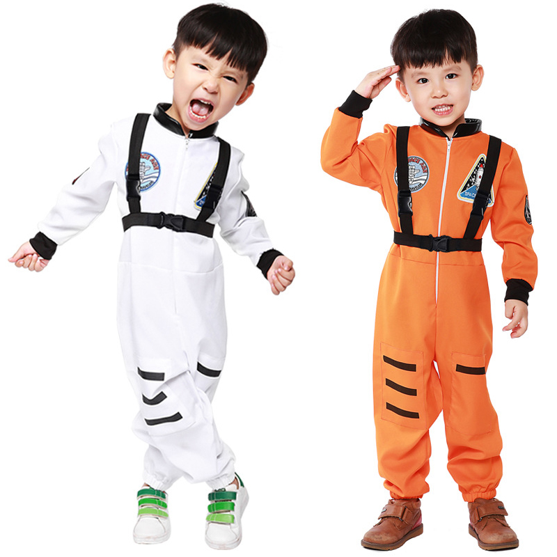 Dashing Kid Astronaut Costume Halloween Boys Girls Children's Day Book Week Party Dress Astronaut Outfit One Piece Jumpsuit Easy To Use