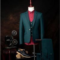 Мода на заказ Для мужчин костюмы куртка + штаны + жилет тонкий Для Мужчин's Пром Blazer брюки жениха торжественное платье Профессиональный плать