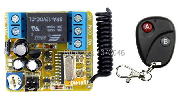 DC12V 1CH Wireless  Time delay Remote Control Switch System Transmitter with Two-button Receiver for Appliances Gate Garage Door inov 8 фляга мультиспортивная softflask 0 5 12 tube clear black