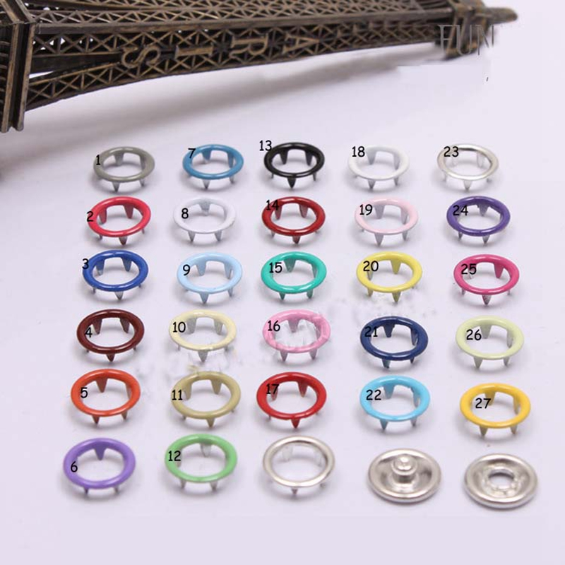 50pcs 9.5mm colors hollow button baby Onesies to climb clothes wear buttons botones metal buttons scrapbooking accessories