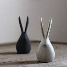 Ceramic derlook rabbit small decoration tea pet