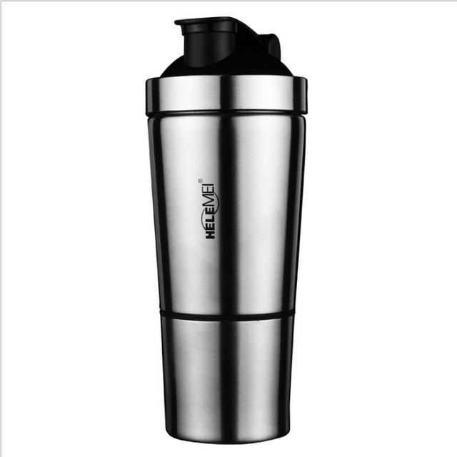 FREE SHIPPING Stainless Steel Shaker 500ml Metal Protein Shake Mixer bottle  Drink Protein Whey Weight Gainer Shaker Bottle SALE 7ffb90f99
