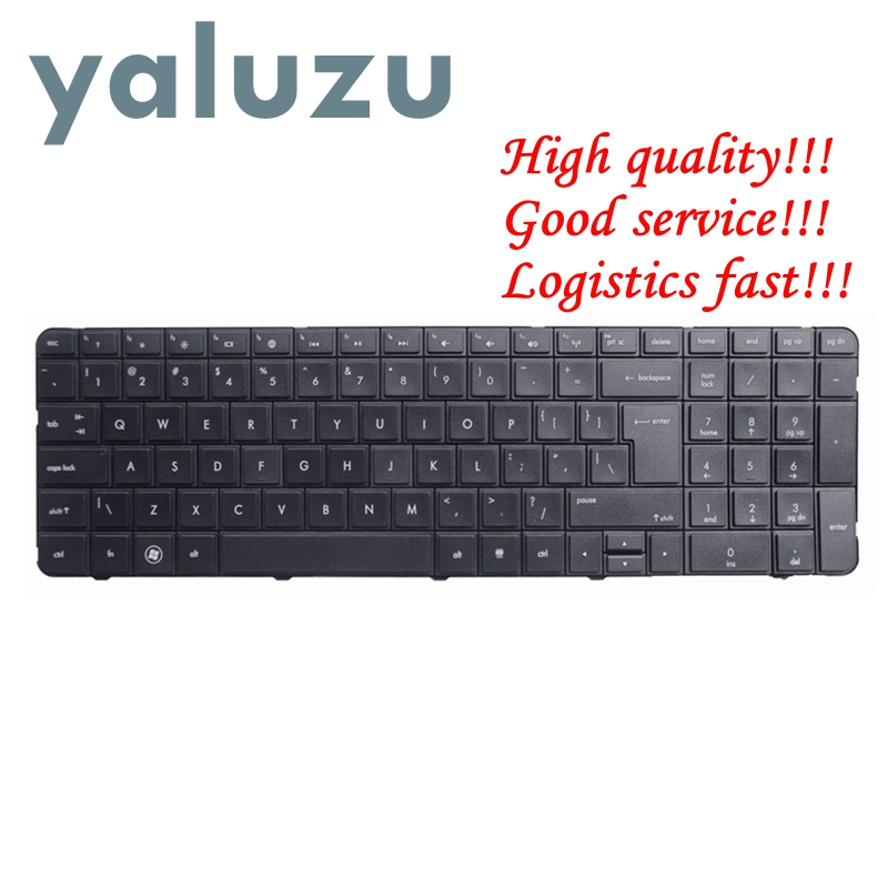 YALUZU New For HP Pavilion G7-1000 G7-1100 G7-1200 G7-1300 G7 G7T R18 G7-1001 G7-1222 English US Laptop Keyboard Black Frame UI