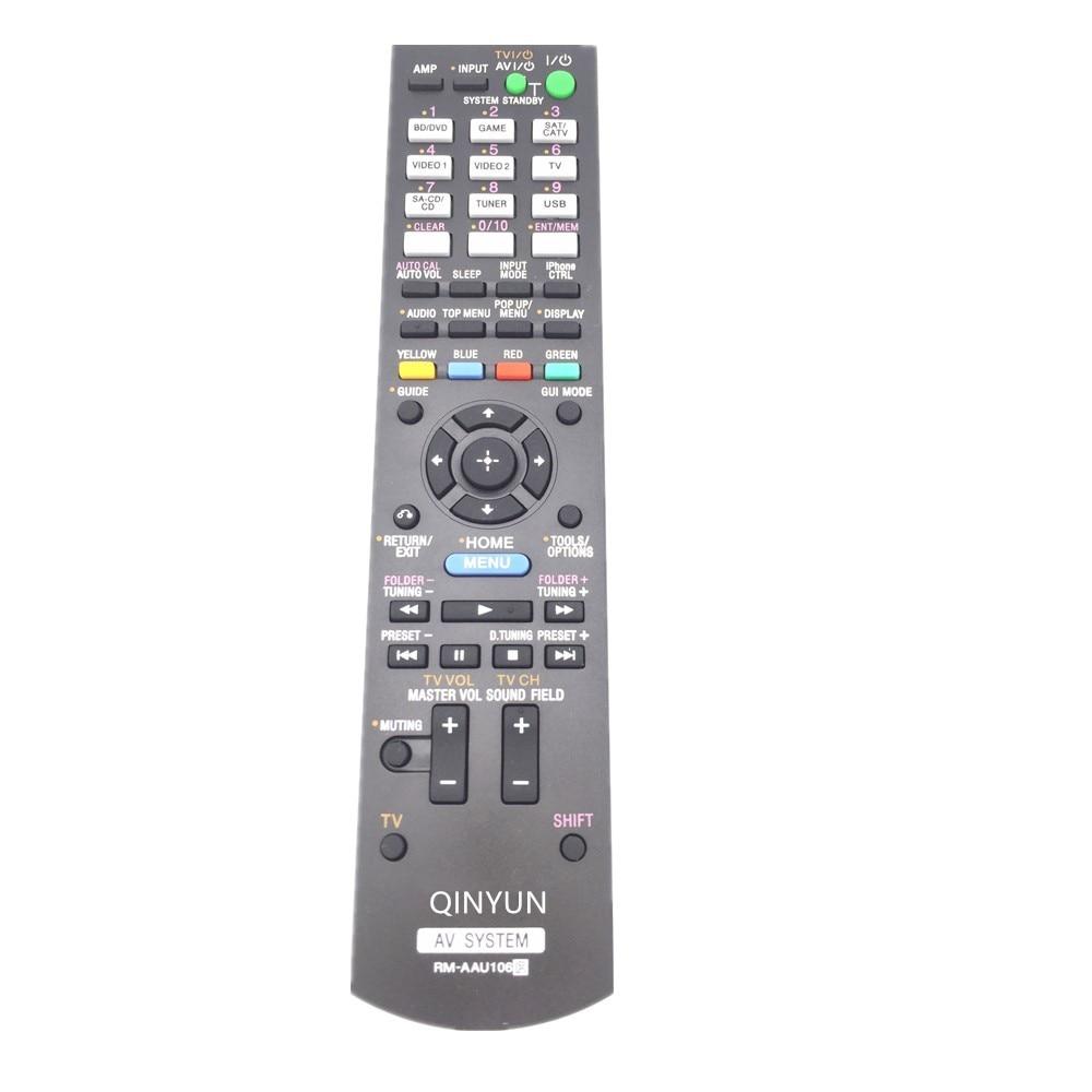 RM-AAU106 Remote Control For Sony STR-DH730 STR-DH830 TDM-iP30 Multi Channel AV Receiver