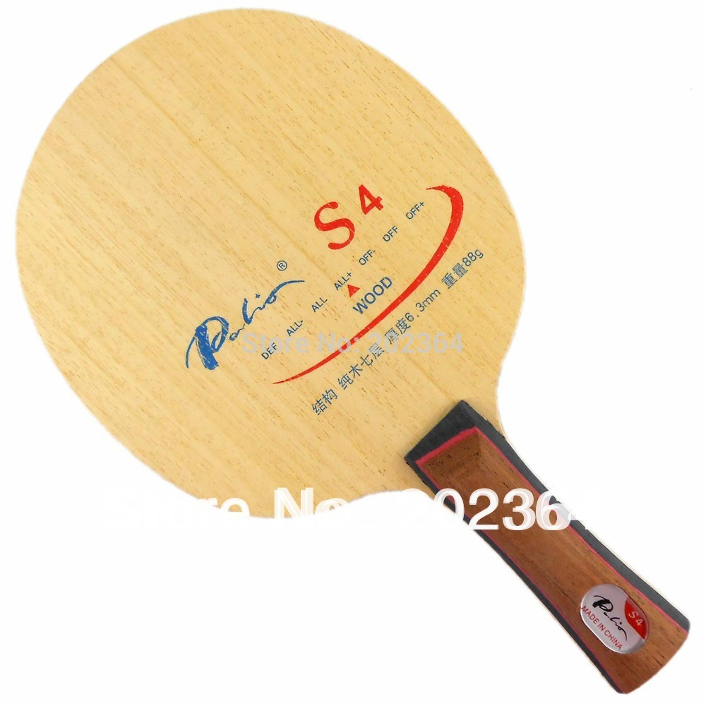 Palio S4 (S-4, S 4) Wood ALL+ Table Tennis Blade for PingPong Racket ...