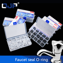 125pcs Rubber Ring NBR/Silicone O-Ring Rotary Faucet Washer Sealing Assortment O ring Silicone Kit Water-tap Gasket Set Box