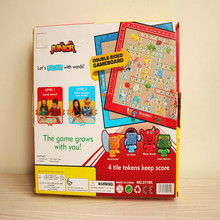 Cartoon Scrabble Games Kid Crossword Puzzles Children Board Spelling Table Jigsaw Word Teaching Aid intellectual development toy fandom media fun and easy korean vocabulary crossword puzzles