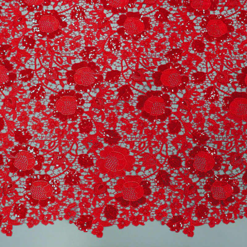 الأحمر التطريز الفاكهة النسيج الأفريقي السويسري جوفاء الدانتيل جودة rench القطن النسيج الأفريقي الدانتيل النسيج الألوان الأربطة سويسرا