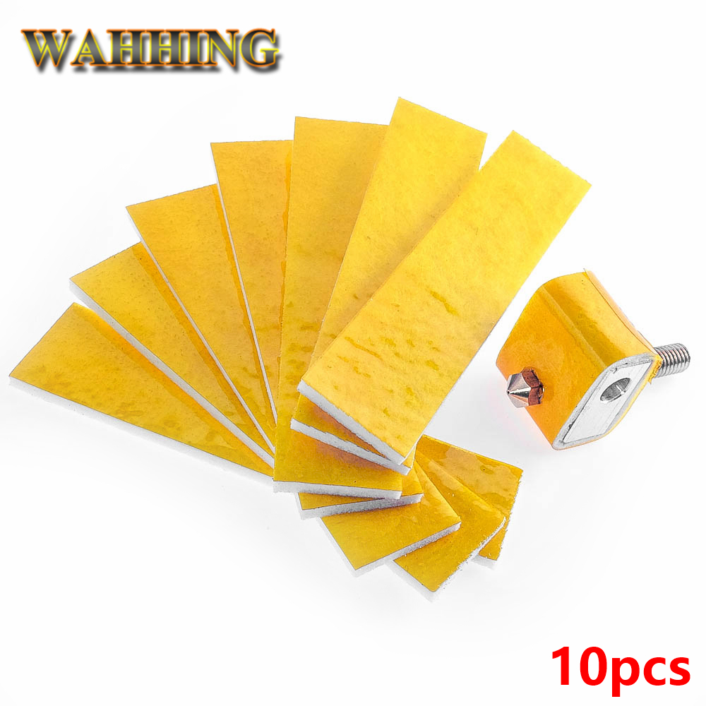 WAHHING 10PCS 2mm thick heating block cotton For 3D printer hotend nozzle heat insulation