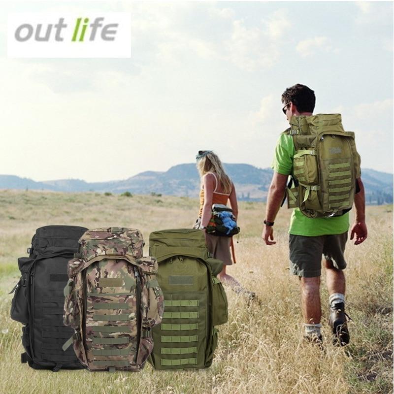 Prix pour Outlife 60L Sport En Plein Air Camping Randonnée Escalade Sacs Tactique Hommes Femme Sac À Dos Militaire Pack Sac À Dos 3 Couleurs