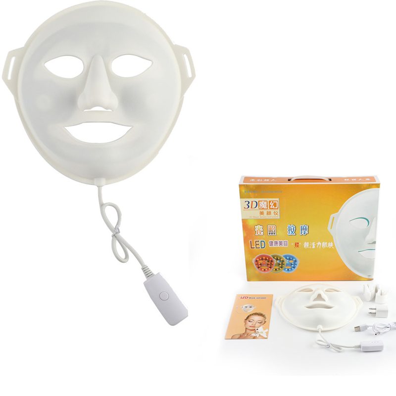 3 Colors LED Light Photon Facial Mask Skin Rejuvenation Machine Treatments Face Wrinkle Removal Electric Beauty Spa Device 30 2017 electric facial natural fruit milk mask machine automatic face mask maker diy beauty skin body care tool include collagen
