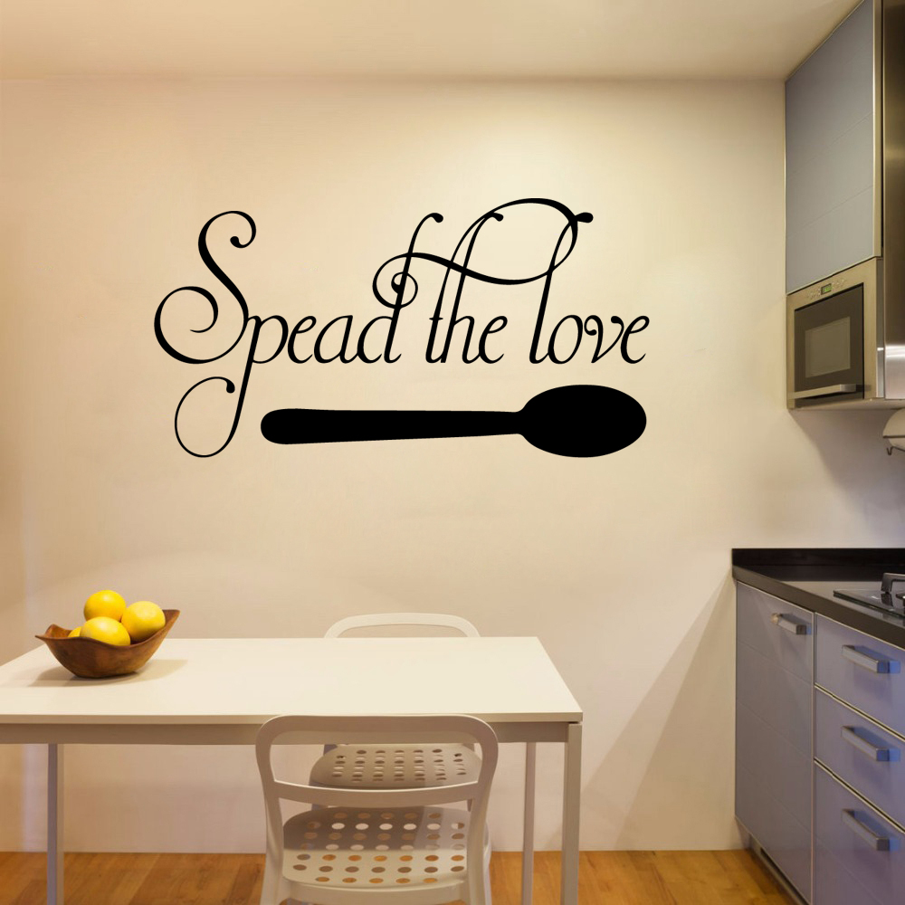 Retro Speak The Love Wall Stickers Home Decor Girls Bedroom Sticker Living Room Children Room Nordic Style Home Decoration in Wall Stickers from Home Garden