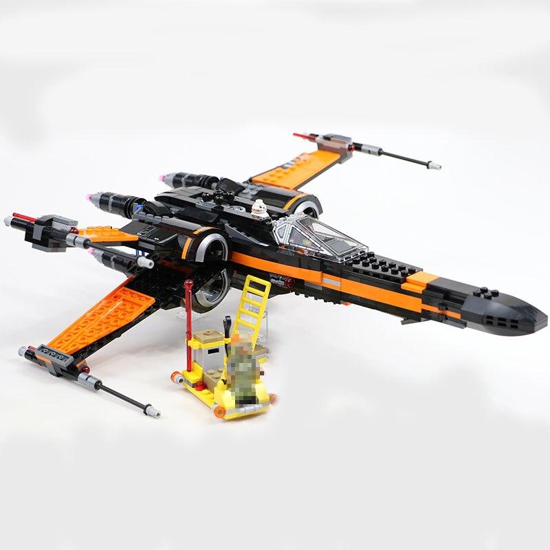 Building Blocks Star Wars 05004 05029 Poe's X-Wing Fighter Toys For Children Compatible 75102 Lepin star wars x wing конструктор lepin star wnrs истребитель сопротивления x wing fighter 740 дет 05029