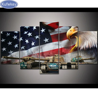 American Flag And Eagle Tanks Diy 5d Diamond Painting Cross Stitch Kits Full Square Diamond Embroidery