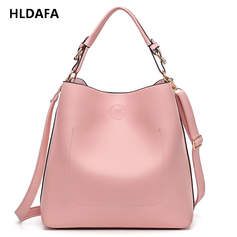 Luxury Brand Designer Bucket bag Women Leather Wide Strap Shoulder bag Handbag Large Capacity Crossbody bag For Shopping Office