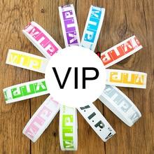 82855abd11d4 VIP 100 piezas desechable tyvek banda para la muñeca para eventos de color  liso barato tyvek de pulsera de papel