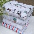 Royal Envolver Manta 120x120 cm Muselina Swaddle Manta Pañales Del Bebé Recién Nacido 100% de Algodón Suave Toalla Bebé Función Wrap